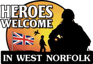 Heroes Welcome in West Norfolk logo