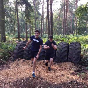 Pair Racing on the Assault Course