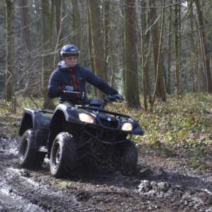 Quad on dirt track