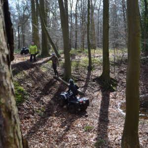 Quad bike rider with Instructor