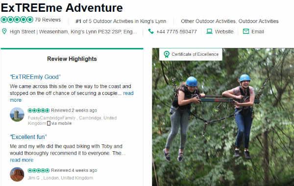 Screenshot from TripAdvisor 17 August 2018